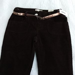 Old navy brown skinny (with stretch) corduroys